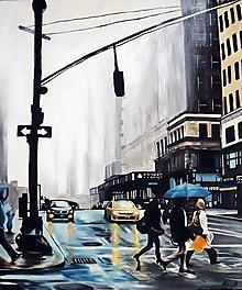 Obrazy - Foggy NY - tlač A4, A3 - 13849073_
