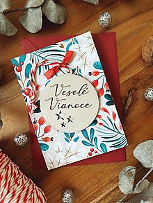 Papiernictvo - Vianočná pohľadnica s ozdobou - 13851814_