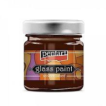Farby-laky - Farba na sklo, nevypaľovacia, 30 ml, červená - 13850530_