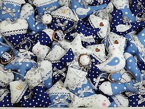 Dekorácie - Vianočné ozdoby v ľadovej modrej,pre Kristínku - 13850661_