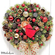 Dekorácie - Vianočný veniec s anjelom II - 13853030_