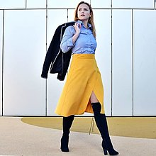 """Sukne - CHARLOTTE - zavinovacia menčestrová sukňa """"RôZNE FARBY"""" - 13853834_"""