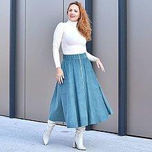 """Sukne - ERIN - menčestrová midi sukňa výrazným zipsom """"RôZNE FARBY"""" - 13853863_"""