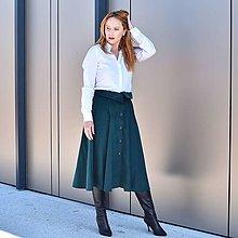 """Sukne - SHIRLEY - menčestrová midi sukňa s košeľovým golierom a gombíkmi """"RôZNE FARBY"""" - 13853876_"""