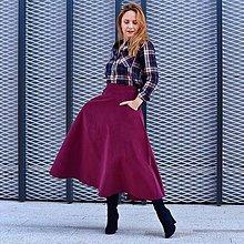 """Sukne - TIARA - menčestrová midi sukňa s vreckami """"RôZNE FARBY"""" - 13853893_"""