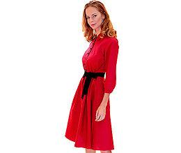 Šaty - Amber - košeľové šaty červené - 13852609_