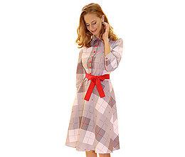Šaty - Amber - košeľové šaty šedé - 13852612_