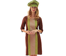 Šaty - Alice - hnedé pohodlné šaty - 13852632_