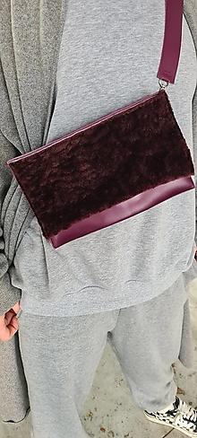 Kabelky - BURGUNDY bag kožená kabelka - 13854130_