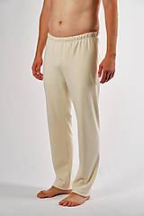 Oblečenie - Bleďásky pánske pyžamové nohavice obojlíc (hrubšie) - 13850152_