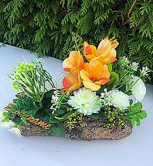 Dekorácie - Spomienková dekorácia (Oranžová) - 13851928_