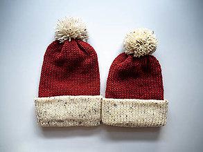 Čiapky - Dámska čiapka - hrdzavá hnedá - 13850500_