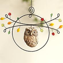 Dekorácie - jesenná dekorácia- sova v lese - 13854685_