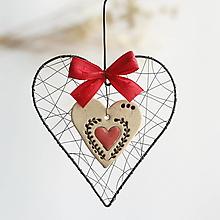 Dekorácie - vianočná dekorácia - srdiečko - 13855200_