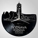 Hodiny - Rožňava, veža s námestím - vinyl clocks (vinylové hodiny) - 13854456_