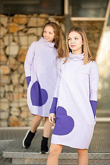 "Detské oblečenie - Teplákové šaty/tunika ""mama a dcéra ♥"" Naya Lila - 13857640_"