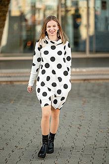 Šaty - Teplákové balónové šaty/tunika Muriel Black - 13858001_
