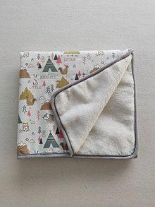 Úžitkový textil - Vlnienka Vlnená deka do postieľky 100% merino Top super wash Zvieratká Little ADVENTURES Francúzska - 13856720_