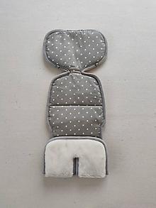 Textil - VLNIENKA Vložka proti poteniu do autosedačky Joie i spine 360 100% Merino top super wash Hviezdičky šedé - 13856806_