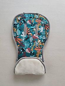 Textil - VLNIENKA podložka do kočíka TFK joggster ADVENTURE 2 100% Merino top super wash Natural Tukany - 13856888_