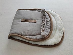 Textil - VLNIENKA podložka do kočíka VALCO SNAP 4 Trend 100% merino top super wash proti poteniu 100% ľan Beige - 13858538_
