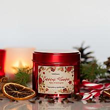 Svietidlá a sviečky - Sviečka zo 100% sójového vosku v plechovke Red - Višňa-Marcipán - 13857687_