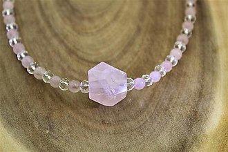 Náhrdelníky - ruženín, krištál náhrdelník - 13855722_
