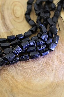 Minerály - turmalín čierny drúzy korálky 10-12mm - 13855806_