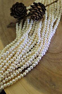 Minerály - perly 4 mm (pravá perla), celá šnúra! - 13856118_