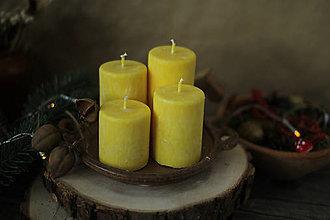 Svietidlá a sviečky - Mrazivé adventné sviečky -  žiarivo žlté - 13855017_