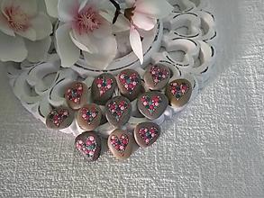 Drobnosti - Ružovozelené srdiečka z Baltiku - Na kameni maľované - 13858421_