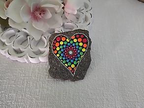 Drobnosti - Žiarivá láska - Na kameni maľované - 13858525_