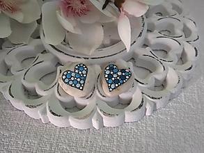 Drobnosti - Modré srdiečka - Na kameni maľované - 13858587_