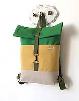 Batohy - Rolltop batoh Zeleno-žltý - 13854864_