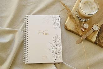 Papiernictvo - Plánovací diár 2022 - Crème - 13855003_