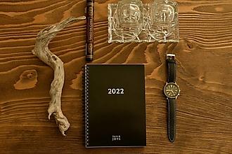 Papiernictvo - Plánovací diár 2022 - Noir - 13855851_