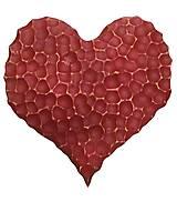 Dekorácie - Červeno-zlaté srdce - 13857310_