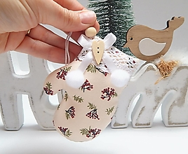 Dekorácie - Vianočné ozdôbky  - rukavička - 13855958_
