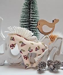 Hračky - Koník - ozdoba na vianočný stromček - 13856032_