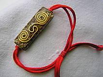 Náramky - Orgonit-náramok s keltskou špirálou - 13857965_