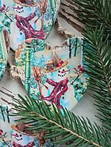 Dekorácie - Vianočná dekorácia snehuliak - 13858608_