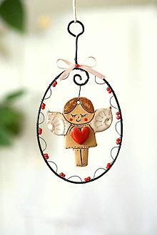 Dekorácie - anjelik so srdcom - 13854718_