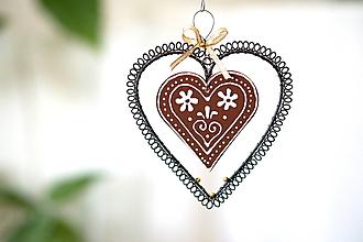 Dekorácie - medovníkové srdce - 13856064_
