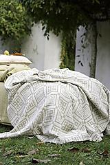 Úžitkový textil - Obojstranná ľanová prikrývka (130x210cm) - 13854466_