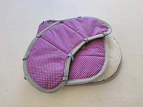 Textil - VLNIENKA Podložka do autosedačky Britax Romer Kidfix S 15/36 kg 100% Merino proti poteniu a prechladnutiu Bodka fialová - 13860754_