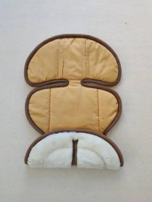 Textil - VLNIENKA podložka do autosedačky Klippan Dinofix vajíčko 0+ / 0-13kg 100% Merino proti poteniu a prehriatiu MUSTARD - 13860807_