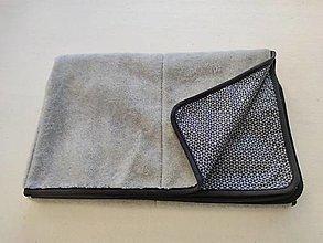 Úžitkový textil - VLNIENKA Deka 100% ovčie rúno MERINO Top super wash grey ELEGANT Origami black and white - 13860879_