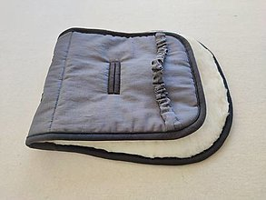 Textil - VLNIENKA podložka do kočíka BUGABOO FOX /Bee / Buffalo/ Cameleon/ Donkey 100% WOOL Seat Liner Elegant 100% ľan Antracit - 13860968_