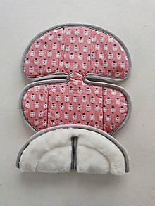 Textil - VLNIENKA podložka do autosedačky Klippan Dinofix vajíčko 0+ / 0-13kg 100% Merino proti poteniu a prehriatiu Santal Macko - 13861870_