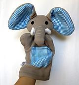 Hračky - Maňuška slon - Sloník od Modrej oázy - 13858918_